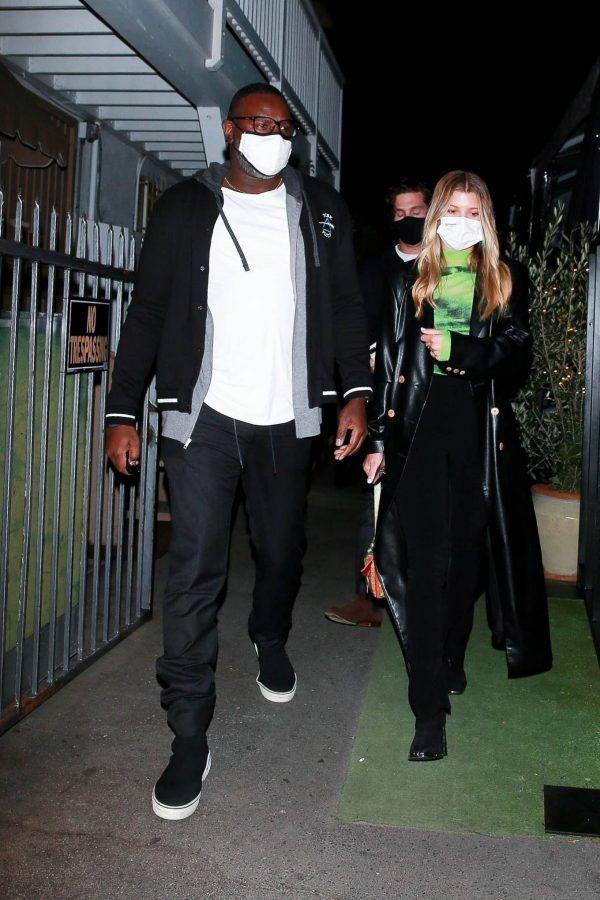 Sofia Richie Pictured while leaves dinner with her new boyfriend at Giorgio Baldi in Santa Monica 07