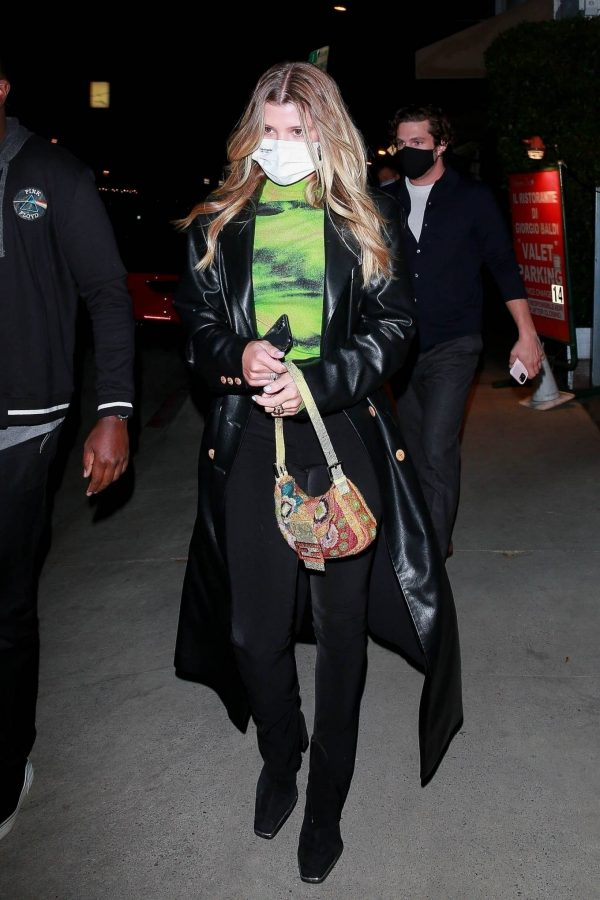 Sofia Richie Pictured while leaves dinner with her new boyfriend at Giorgio Baldi in Santa Monica 08