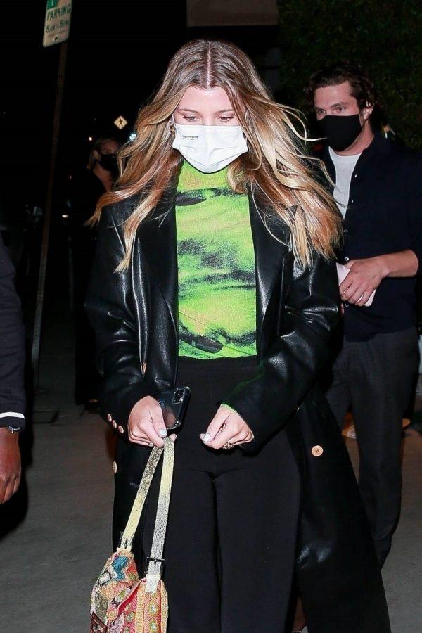 Sofia Richie Pictured while leaves dinner with her new boyfriend at Giorgio Baldi in Santa Monica 11
