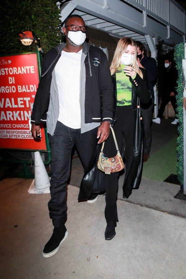 Sofia Richie Pictured while leaves dinner with her new boyfriend at Giorgio Baldi in Santa Monica 12