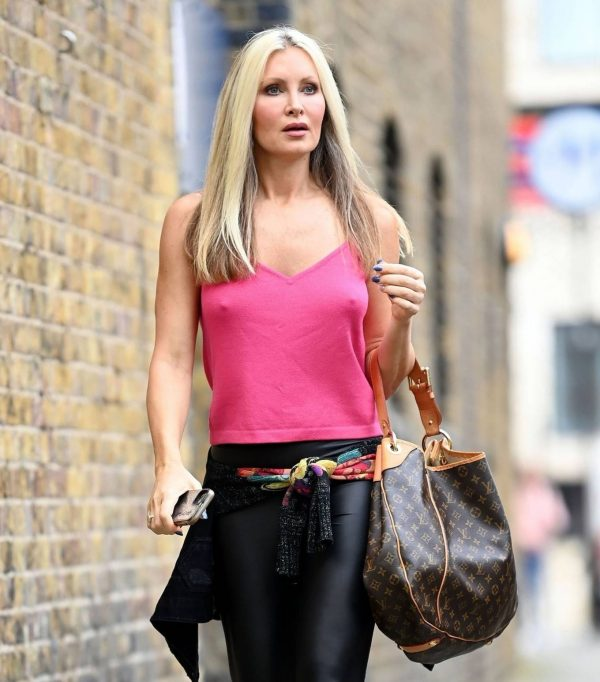 Caprice Bourret Pictured outside a recording studio in London 08