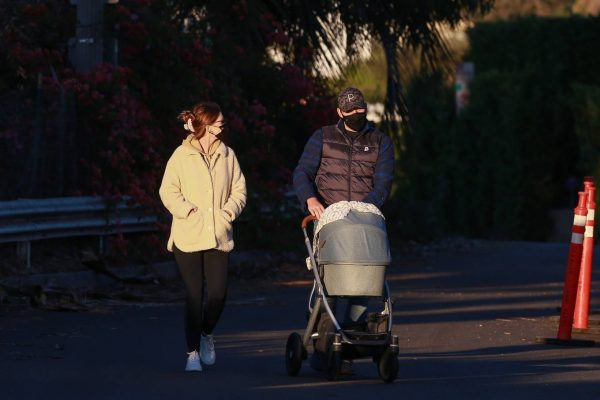 Chris Pratt and Katherine Schwarzenegger Out with their daughter in Santa Monica on a sunset 04