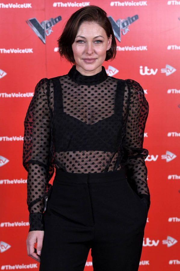 Emma Willis Pictured at The Voice UK Photocall Series 4 in Manchester 03