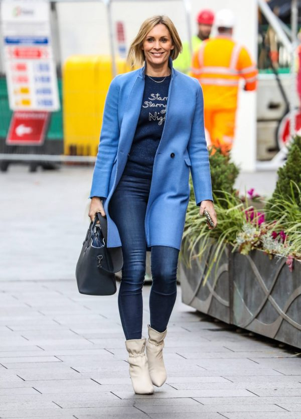 Jenni Falconer Pictured after her Smooth Radio show in London 01