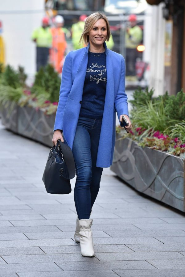 Jenni Falconer Pictured after her Smooth Radio show in London 15