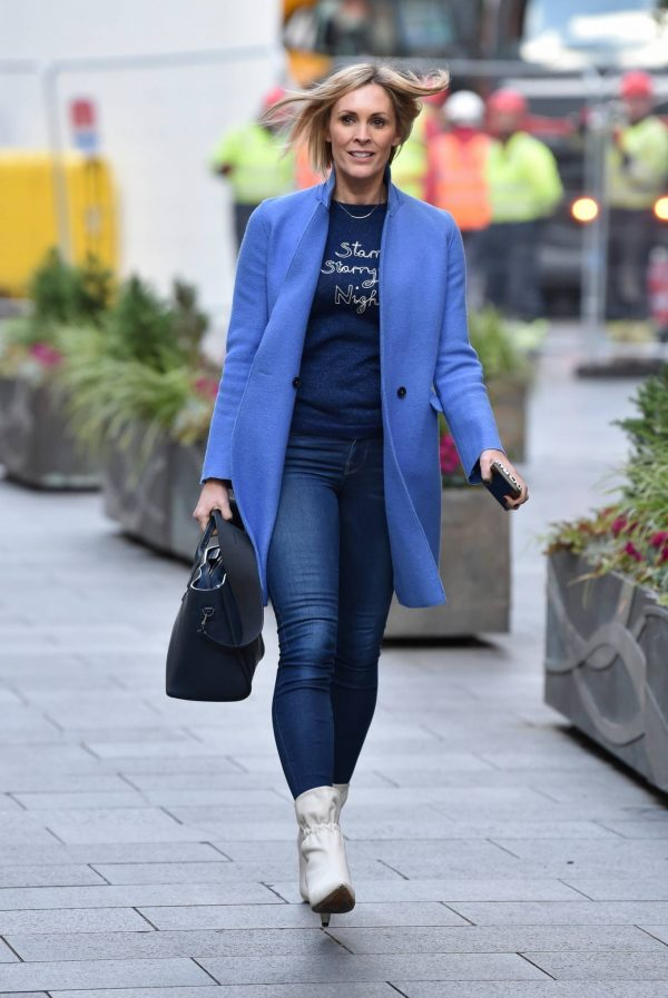 Jenni Falconer Pictured after her Smooth Radio show in London 16