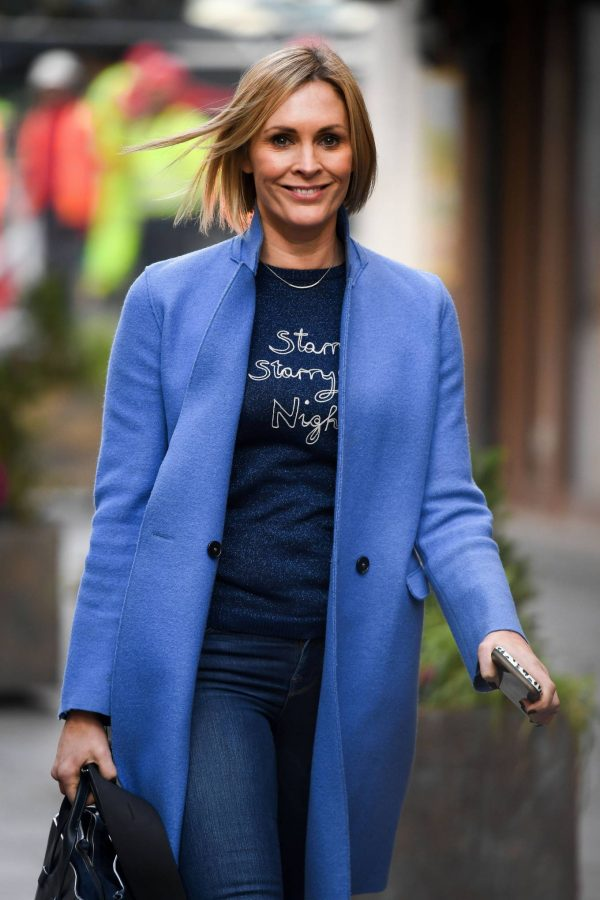 Jenni Falconer Pictured after her Smooth Radio show in London 17