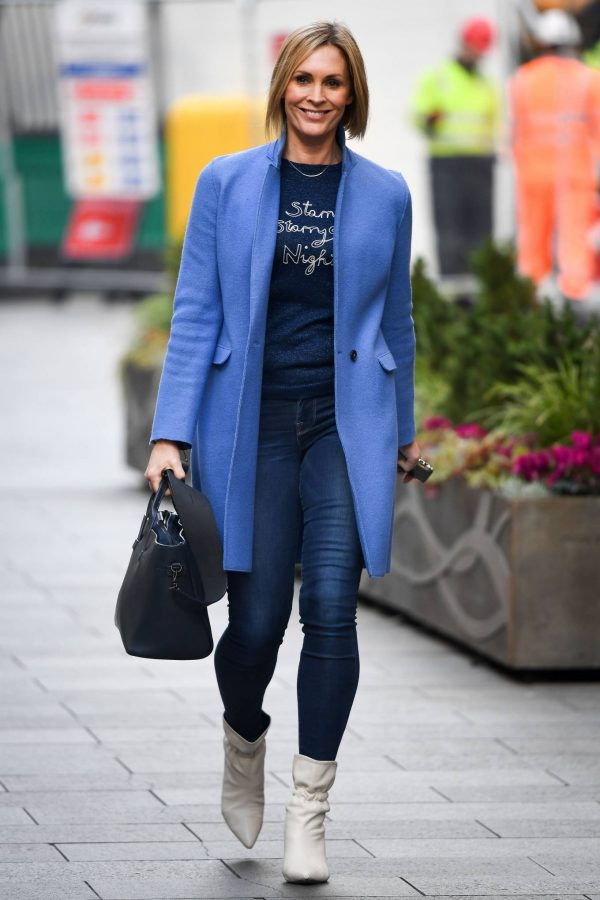 Jenni Falconer Pictured after her Smooth Radio show in London 18