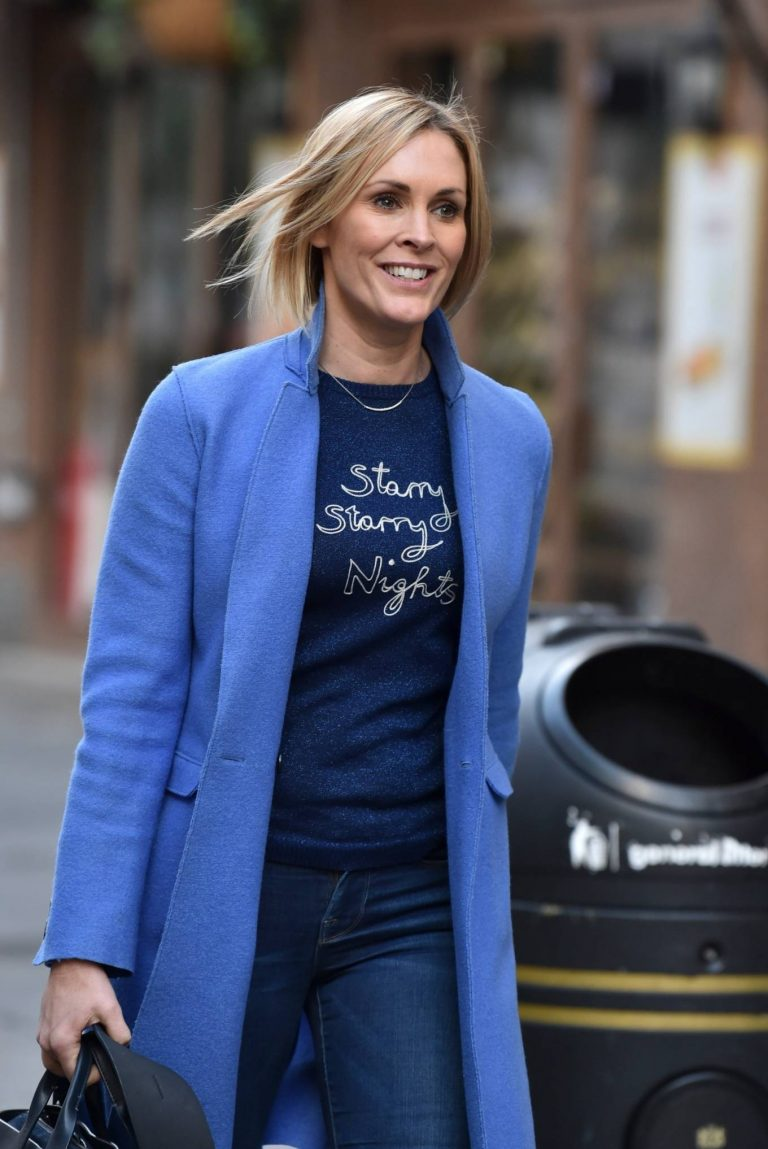 Jenni Falconer Pictured after her Smooth Radio show in London 19
