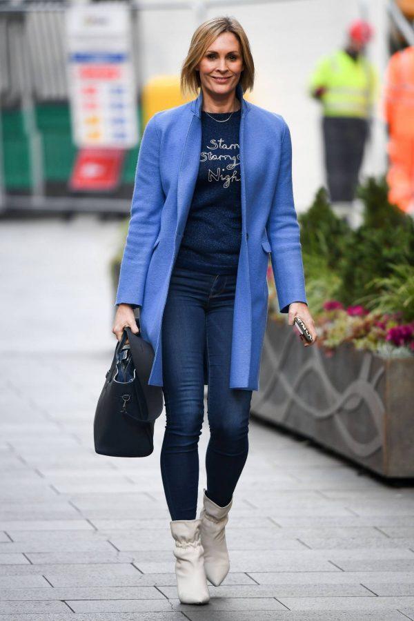 Jenni Falconer Seen leaving the Global studios in London 03