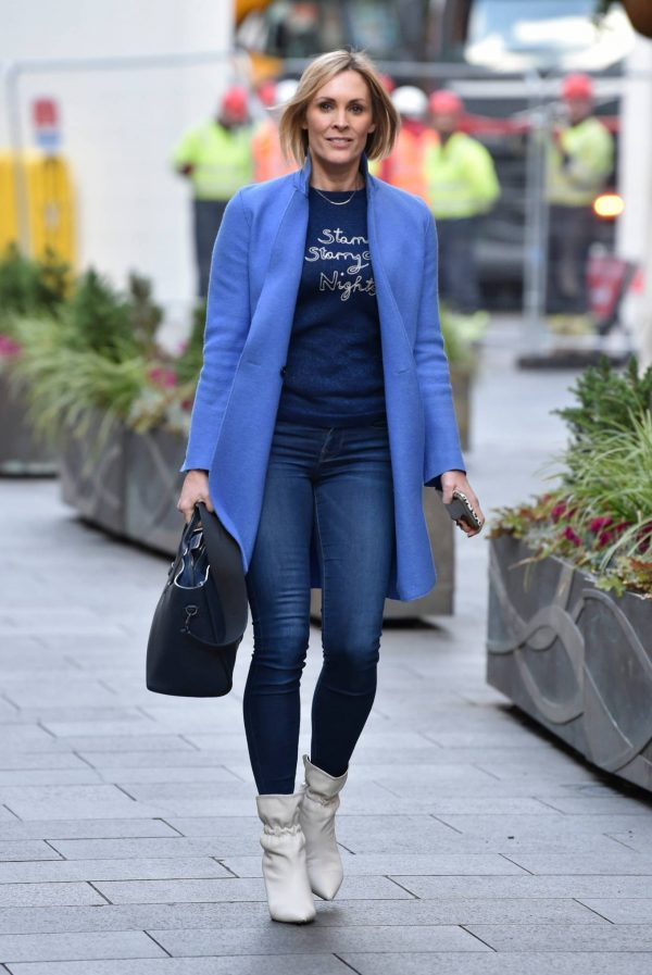 Jenni Falconer Seen leaving the Global studios in London 05