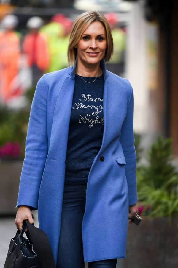 Jenni Falconer Seen leaving the Global studios in London 12