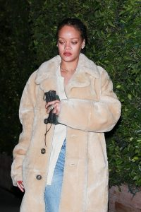 Rihanna Seen while exits Giorgio Baldi in Santa Monica 12