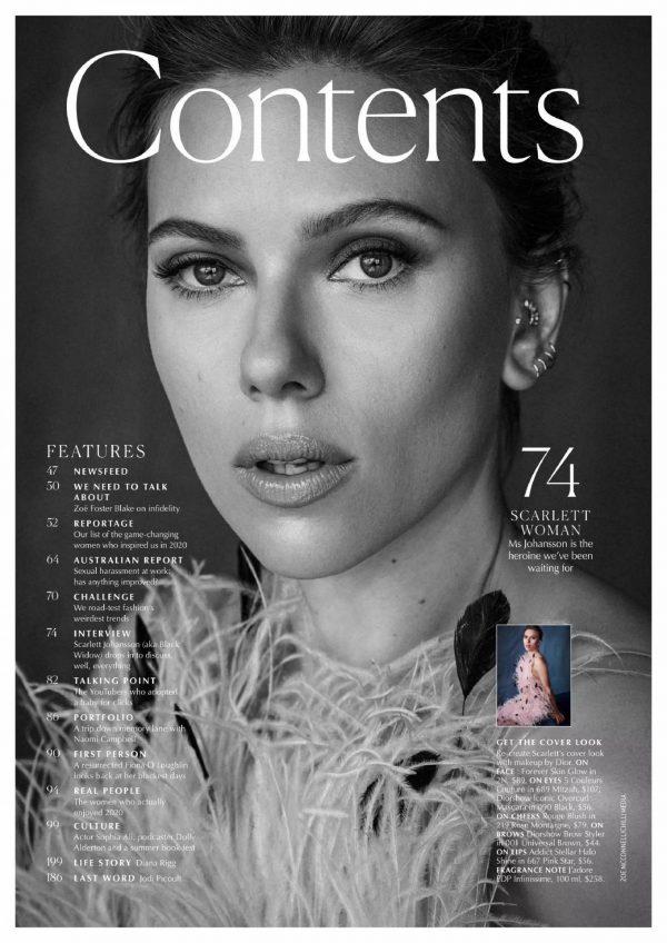 Scarlett Johansson Marie Claire Australia December 2020 01