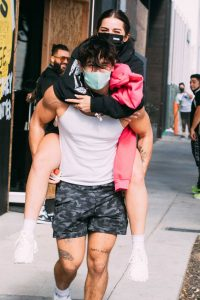 Addison Rae Gets Piggy Back Ride From Bryce Hall After Workout at Dogpound 01
