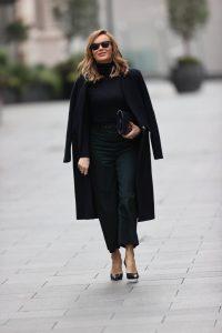 Amanda Holden In black sheer top in London 02