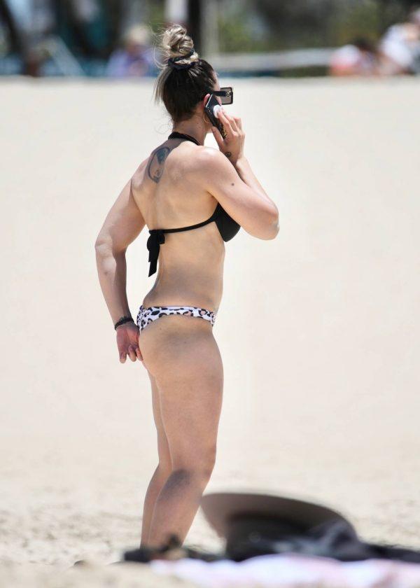Amanda Micallef In bikini at the beach on the Gold Coast 01