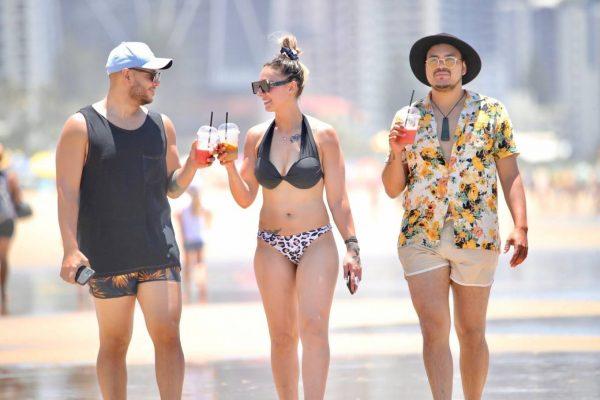 Amanda Micallef In bikini at the beach on the Gold Coast 06