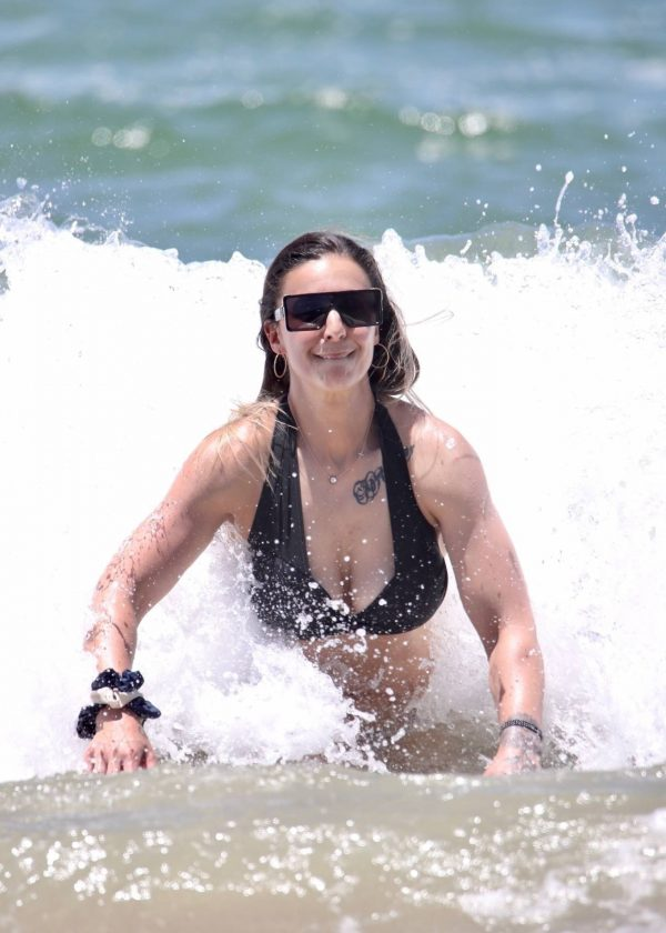Amanda Micallef In bikini at the beach on the Gold Coast 08