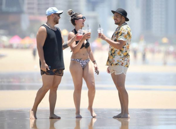 Amanda Micallef In bikini at the beach on the Gold Coast 09