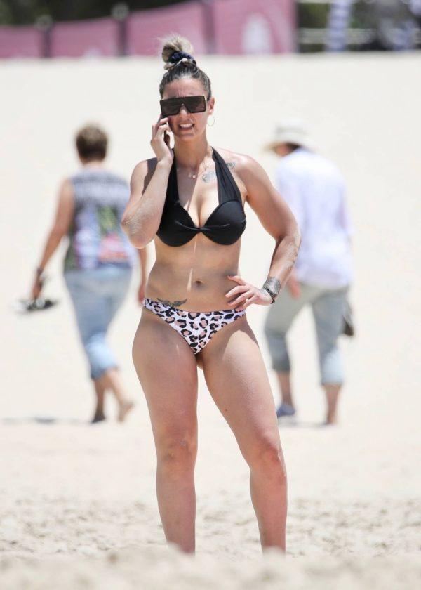 Amanda Micallef In bikini at the beach on the Gold Coast 10