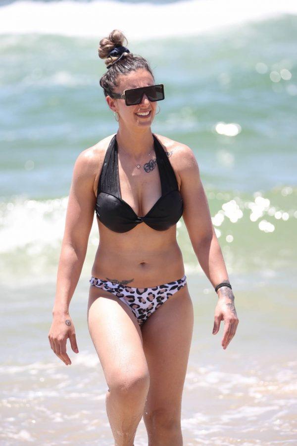 Amanda Micallef In bikini at the beach on the Gold Coast 14