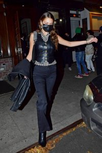 Bella Hadid Night out at Carbone in NYC 07
