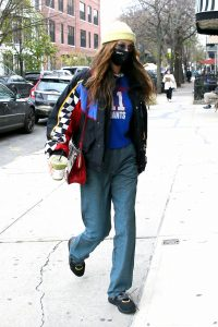 Bella Hadid With Justine Skye shopping candids at a boutique in Brooklyn 01