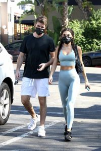 Chantel Jeffries With Andrew Taggart seen after gym in Los Angeles 02