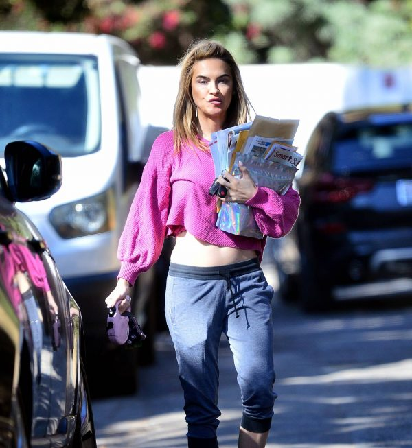 Chrishell Stause In a midriff bearing crop top in Los Angeles 03