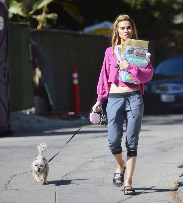 Chrishell Stause In a midriff bearing crop top in Los Angeles 07