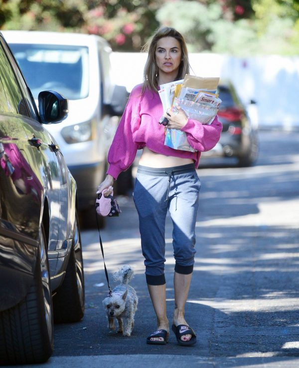 Chrishell Stause In a midriff bearing crop top in Los Angeles 10