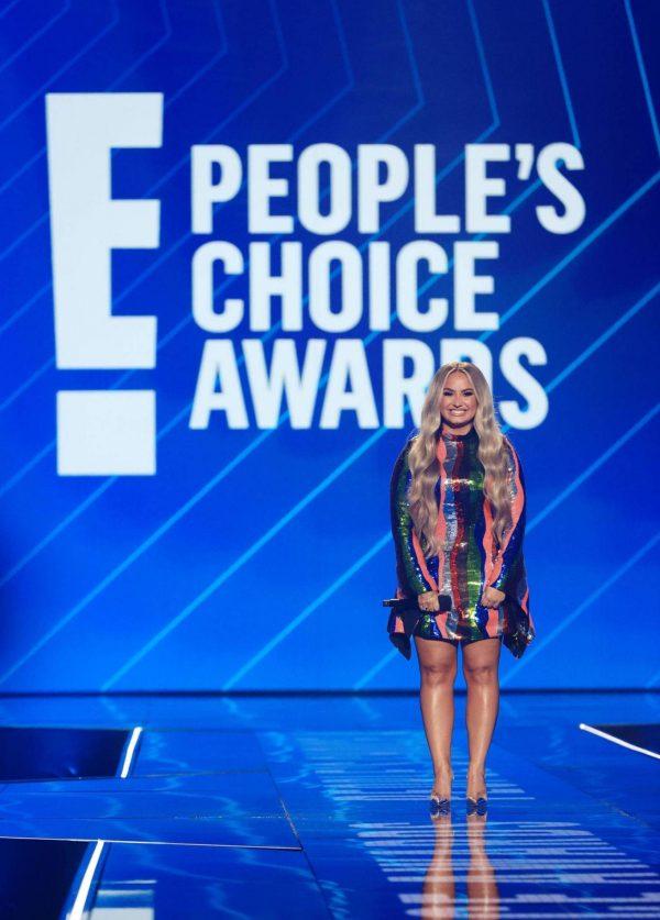 Demi Lovato 2020 E Peoples Choice Awards in Santa Monica 11