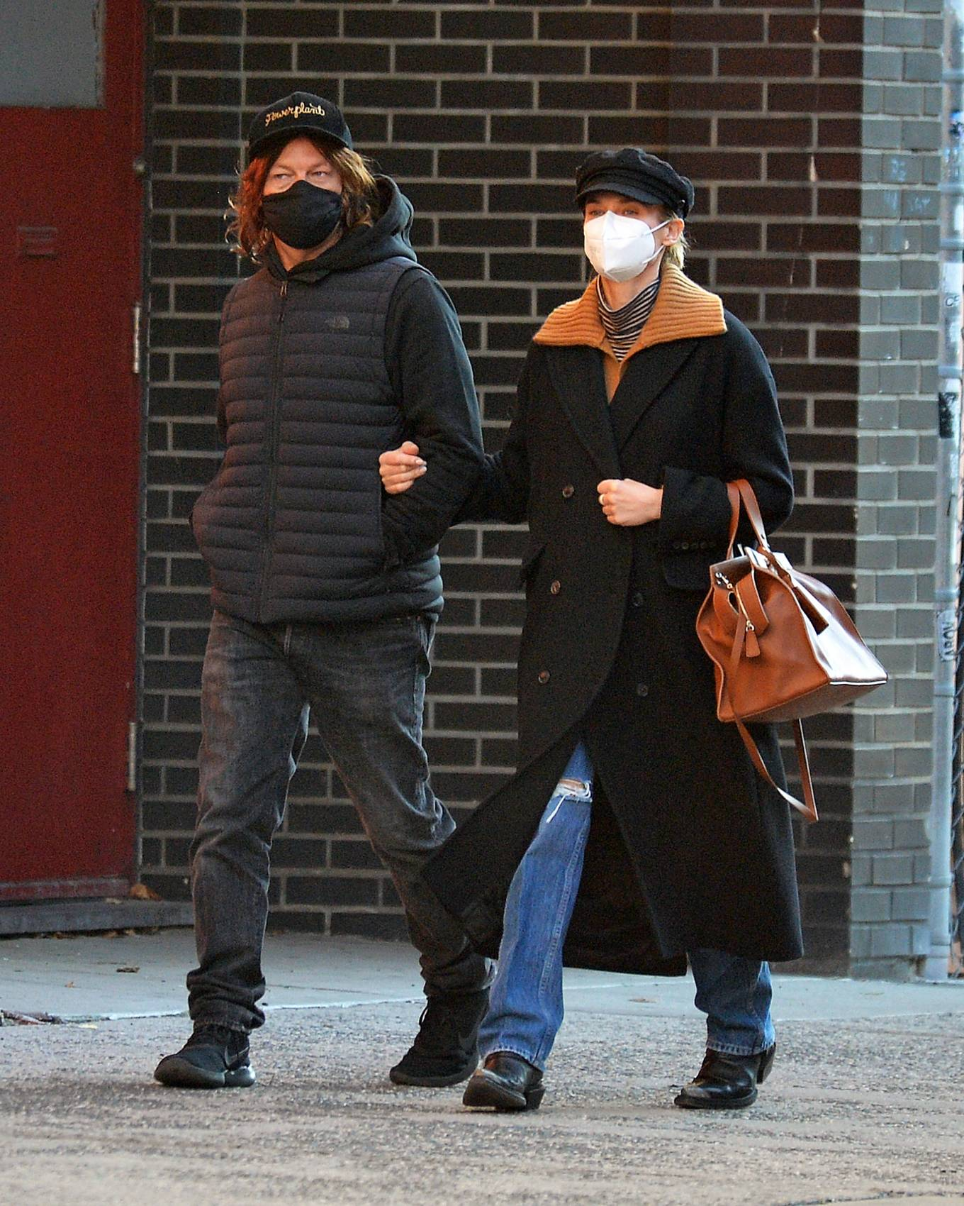 Diane Kruger and Norman Reedus Stroll in New York 02