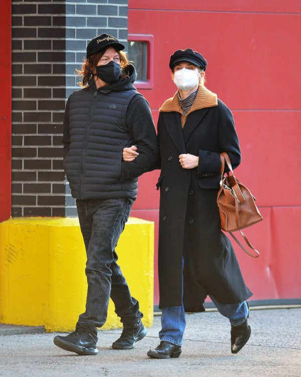 Diane Kruger and Norman Reedus Stroll in New York 08
