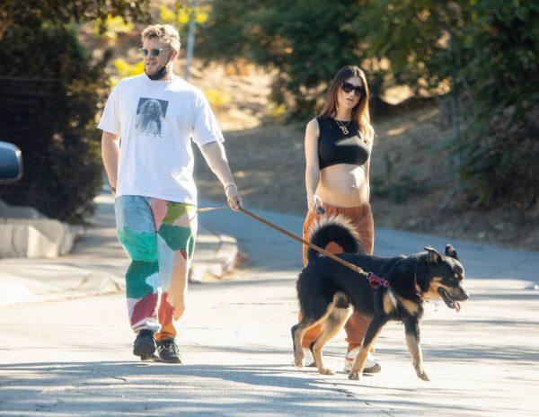 Emily Ratajkowski take a stroll with houseband in Los Angeles 04