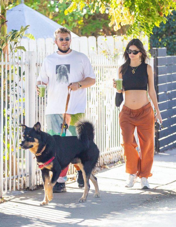 Emily Ratajkowski take a stroll with houseband in Los Angeles 07