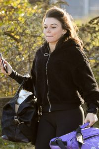 Faye Brookes Seen leaving Dancing on Ice Training in Manchester 03