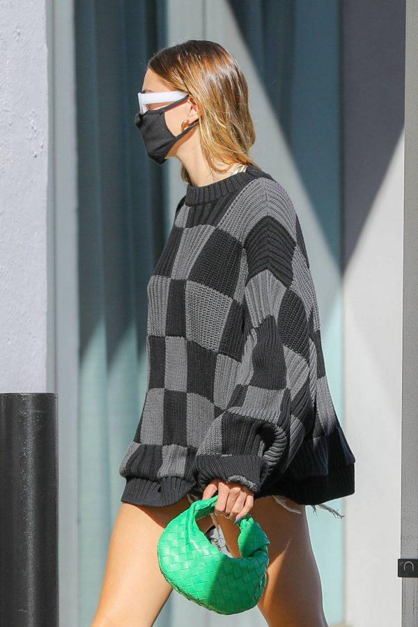 Hailey Baldwin Seen on street of West Hollywood 01