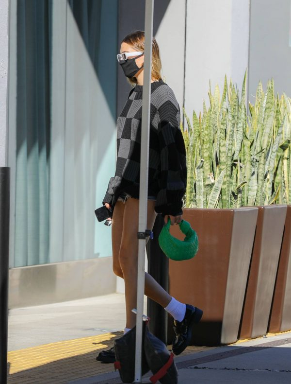 Hailey Baldwin Seen on street of West Hollywood 13