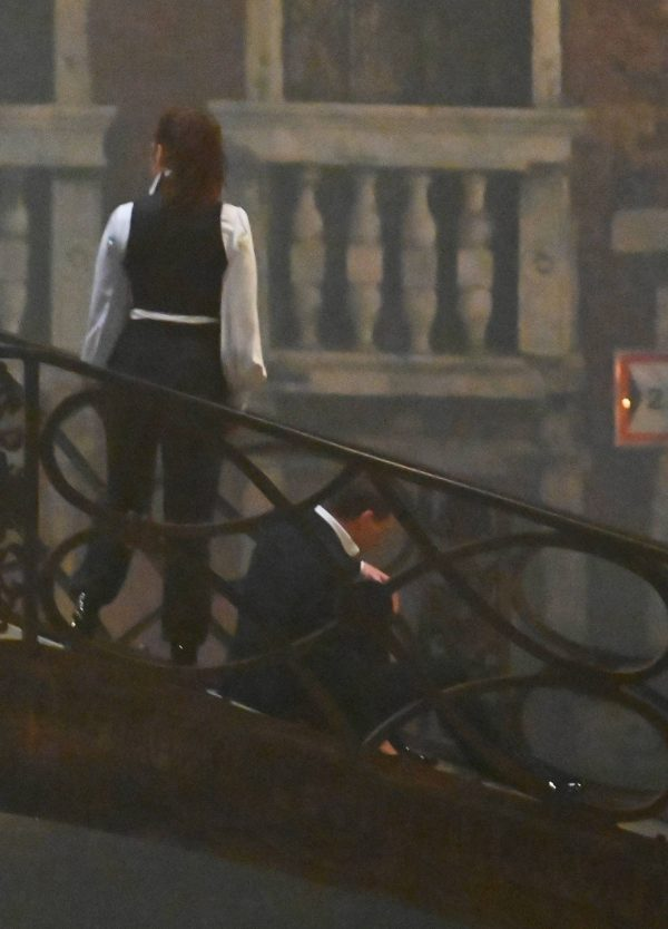 Hayley Atwell On the set of Mission Impossible 7 on the bridge Minich in Venice 12