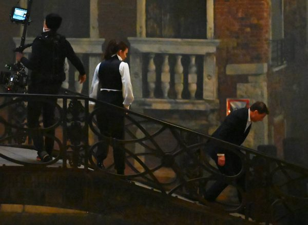 Hayley Atwell On the set of Mission Impossible 7 on the bridge Minich in Venice 13