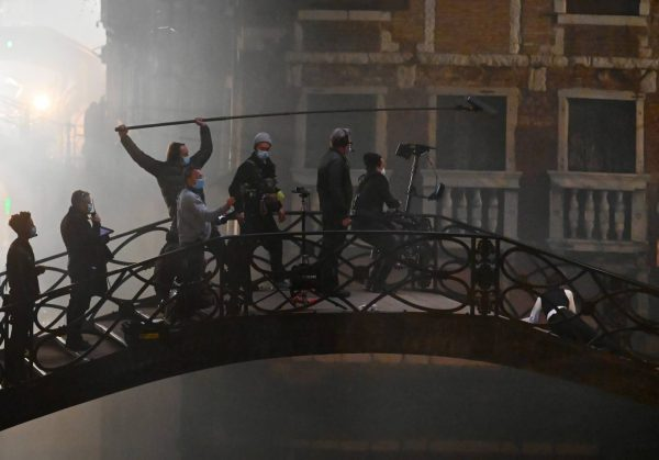 Hayley Atwell On the set of Mission Impossible 7 on the bridge Minich in Venice 15
