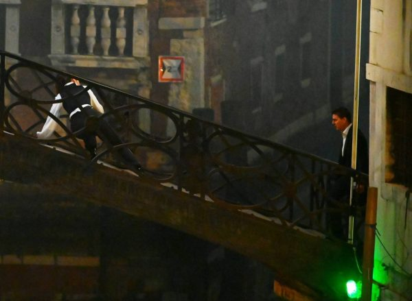 Hayley Atwell On the set of Mission Impossible 7 on the bridge Minich in Venice 16
