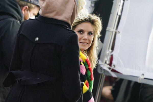 Heidi Klum Filming Germanys Next Topmodel in front of the Hotel Adlon in Berlin 02