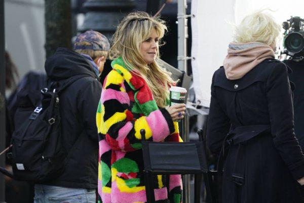 Heidi Klum Filming Germanys Next Topmodel in front of the Hotel Adlon in Berlin 09