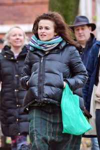 Helena Bonham Carter out with Rye Dag Holmboe and son in North London 06