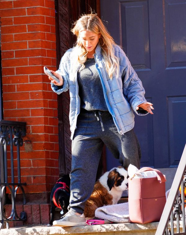 Hilary Duff Out with her new puppy in NYC 08
