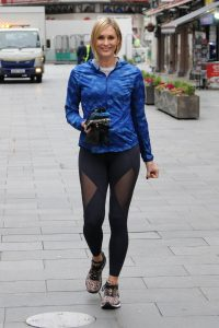 Jenni Falconer Seen leaving Global Radio in London 01