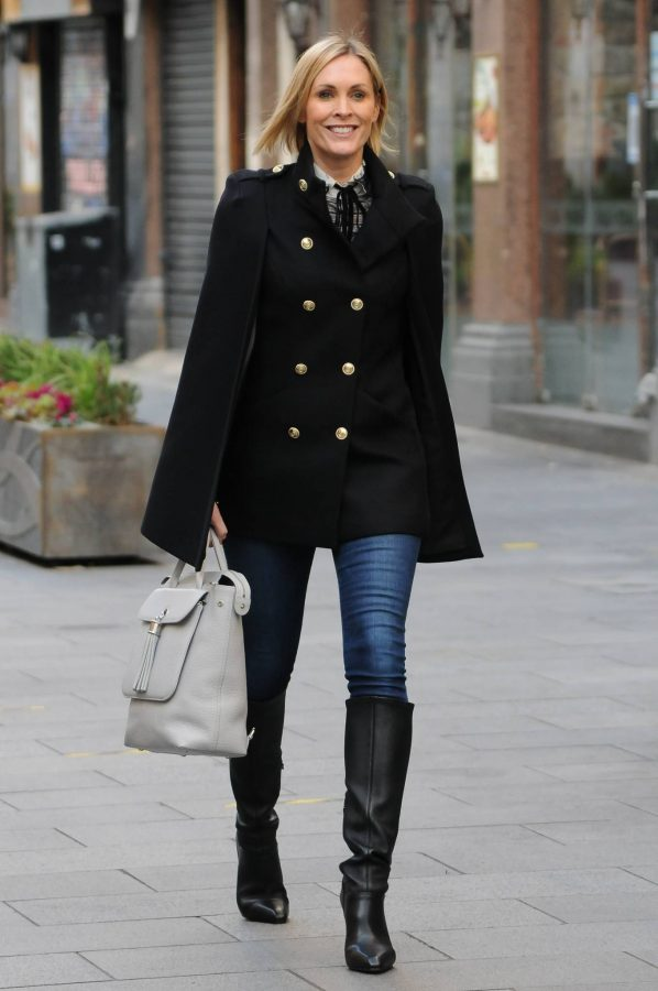 Jenni Falconer Seen leaving Smooth FM in London 02